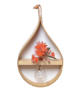Mega teardrop hanging vase by Stix & Flora, from Concreate