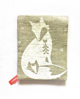 Pure linen fox tea towel