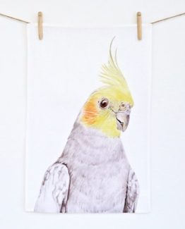 Cockatiel Tea Towel